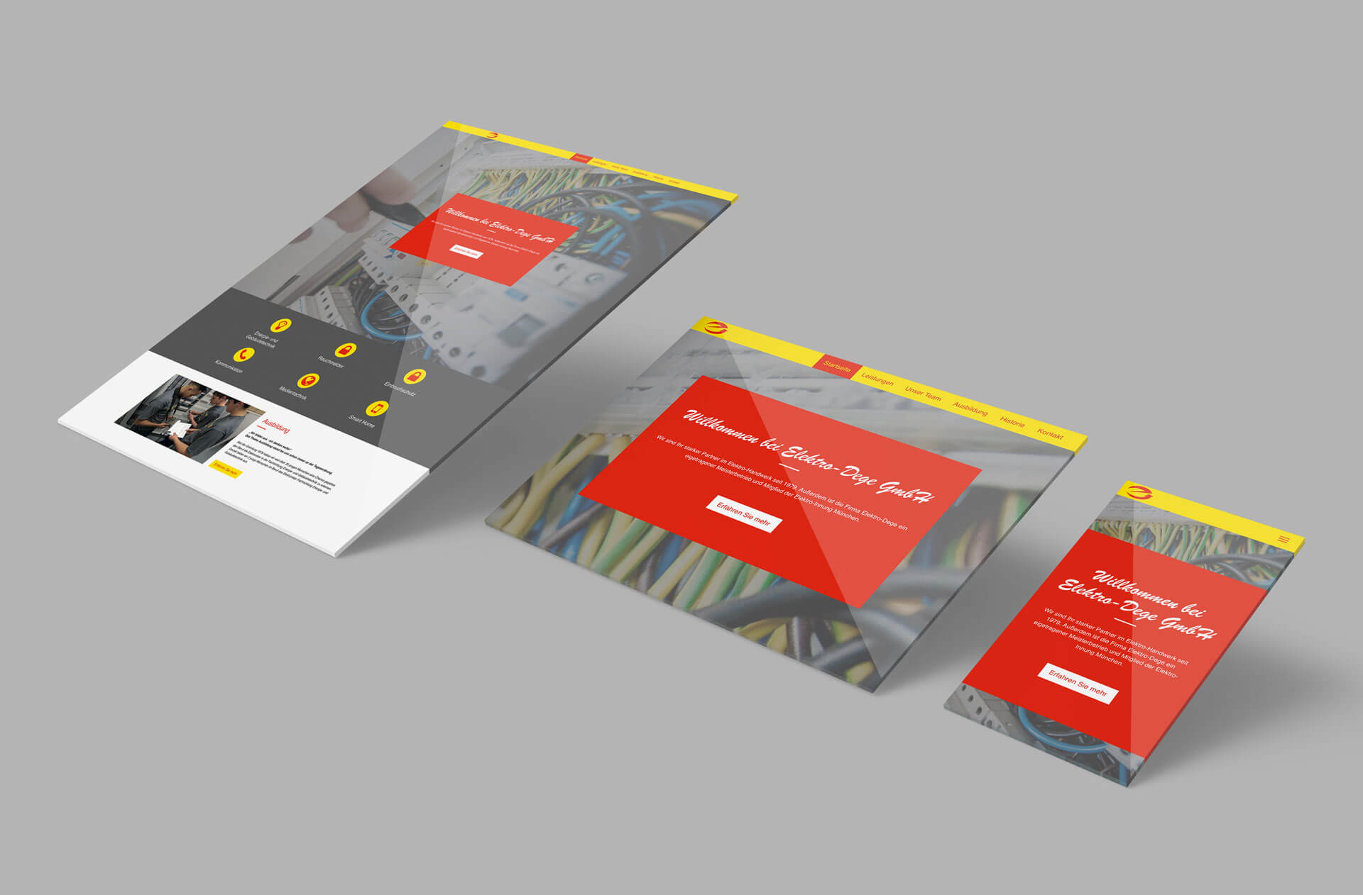 Responsive Webdesign Elektro Dege